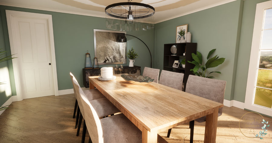 Stunning contemporary statement dining room in Petersfield