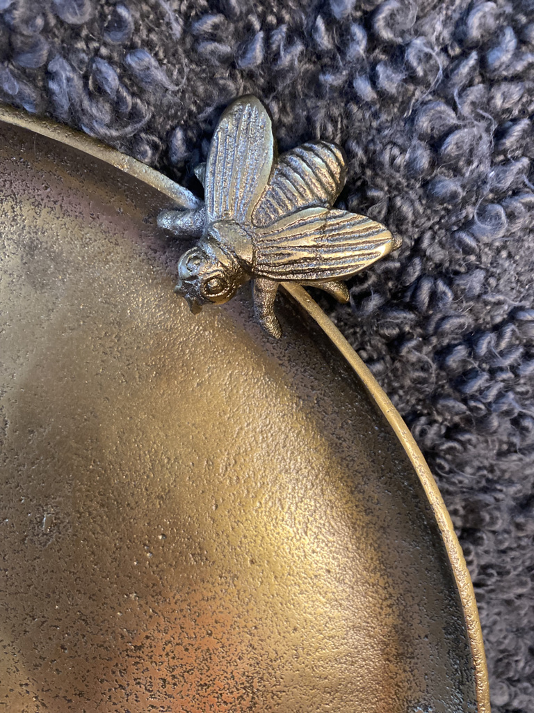 Gold metal bee platter sold by Mackenzie Paige Interiors in Hampshire - image 2