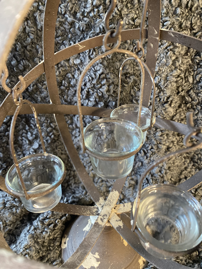 Rustic metal tealight stand sold by Mackenzie Paige Interiors - image 2